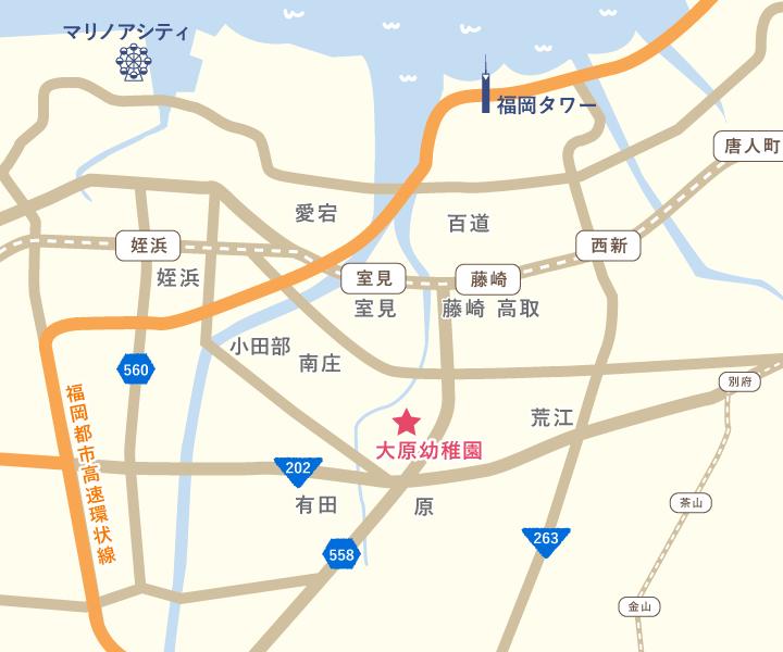 大原幼稚園バスコースマップ